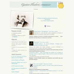 Gustave Flaubert, romancier