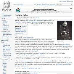 Gustave Kahn
