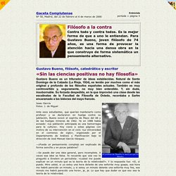 Gustavo Bueno / Filósofo a la contra / Gaceta Complutense / 22 febrero 2000