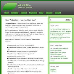 Gute Webseiten - was macht sie aus? » WP Care