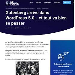 Gutenberg arrive dans WordPress 5.0… et tout va bien se passer