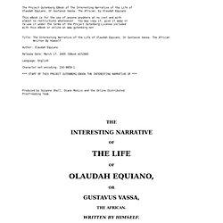 Olaudah Equiano alias Gustavus Vassa l'Africain 1745-1797 ... | 250 x 250 jpeg 8kB