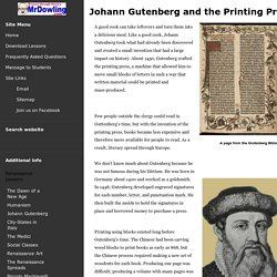 Johann Gutenberg and the Printing Press - An Introduction