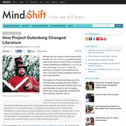 How Project Gutenberg Changed Literature
