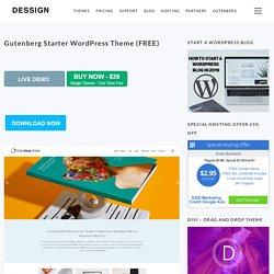 Gutenberg Starter WordPress Theme (FREE) - Free (Dessign 2019)
