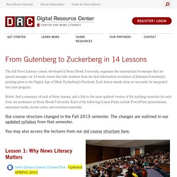 From Gutenberg to Zuckerberg in 14 Lessons