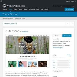 Gutenshop – WordPress theme