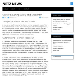 Gutter Cleaning Safely and Efficiently