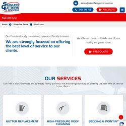 Gutter Repair & Replacement -Seamless Gutters