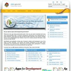 Moldovie : Données publiques / Open Data