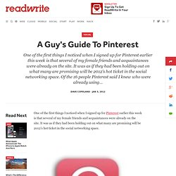 A Guy's Guide To Pinterest