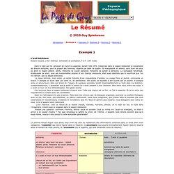 Dr. Guy Spielmann: Le Résumé - Exemple 1