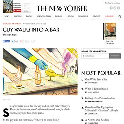 Guy Walks Into a Bar - The New Yorker