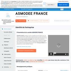 ASMODEE FRANCE (GUYANCOURT) Chiffre d'affaires, résultat, bilans sur SOCIETE.COM - 821169794
