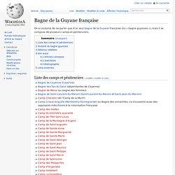 Bagne de la Guyane française