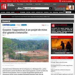 Guyane: l'opposition à un projet de mine d'or géante s'intensifie