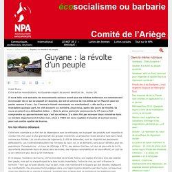 Guyane : la révolte d'un peuple