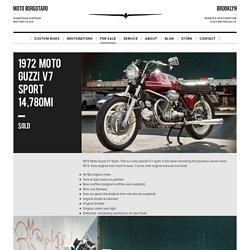 1972 Moto Guzzi V7 Sport 14,780mi – Moto Borgotaro