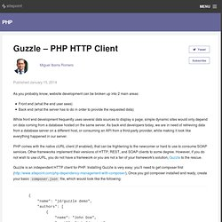 Guzzle - PHP HTTP Client