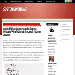 Sosten gwengwe : capital hill cashgate scandal:Demna Gvasalia Won Twice at the 2016 Fashion Awards
