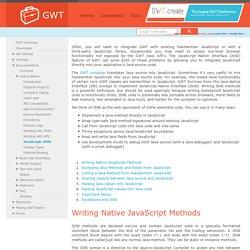 Coding Basics - JavaScript Native Interface (JSNI) - Google Web Toolkit