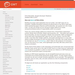 Large scale application development and MVP - Google Web Toolkit