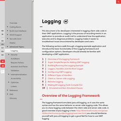 Developer's Guide - Logging - Google Web Toolkit