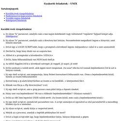 Gyakorl feladatok - UNIX