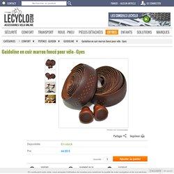 Gyes - Ruban pour guidon vélo en cuir marron foncé