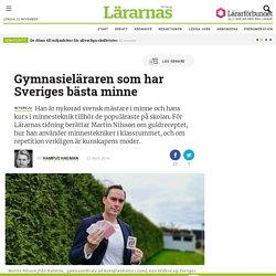 Gymnasieläraren som har Sveriges bästa minne