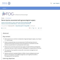 Nerve injuries associated with gynaecological surgery - Kuponiyi - 2014 - The Obstetrician & Gynaecologist - Wiley Online Library