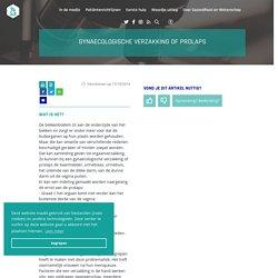 Gynaecologische verzakking of prolaps · Gezondheid en wetenschap
