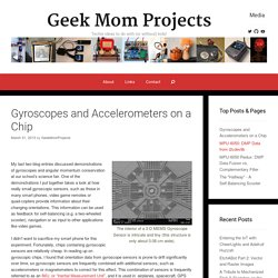 Gyroscopes and Accelerometers on a Chip