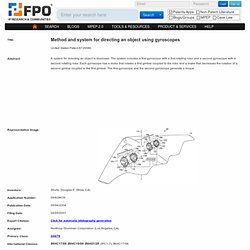 Method and system for directing an object using gyroscopes - Northrop Grumman Corporation