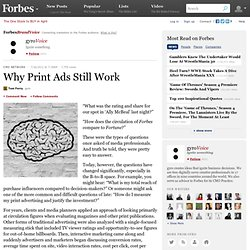 Why Print Ads Still Work