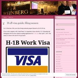 H-1B visa guide: filing season