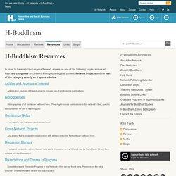 H-Buddhism Resources