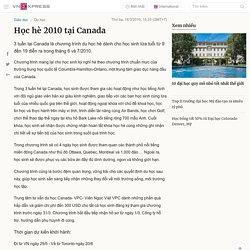 Học hè 2010 tại Canada