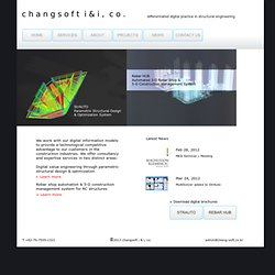 Changsoft i&i - Differentiated digital practice in structural engineering