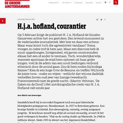 H.j.a. hofland, courantier