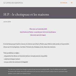 H.P. : le choixpeau et les maisons