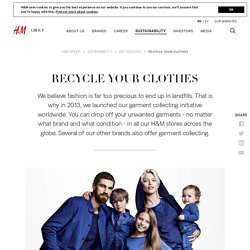 Recycle your clothes