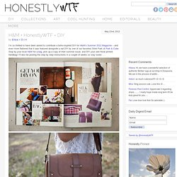 H&M + HonestlyWTF = DIY