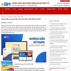 Hướng dẫn sử dụng phần mềm bảo hiểm xã hội eBH