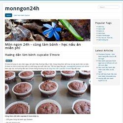 Hướng dẫn làm bánh cupcake S'more