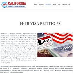H-1 B Visa Petitions in California
