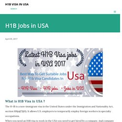 Find latest H1b jobs in USA
