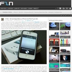 H1Siri : Siri est disponible sur iPhone 4 et iPod Touch 4G