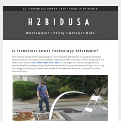 Is Trenchless Sewer Technology Affordable?