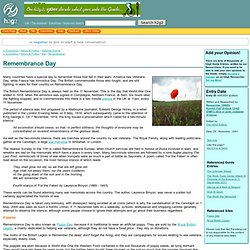 h2g2 - Remembrance Day - A653924